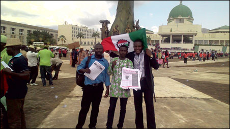 Comrades at Abuja Rally, photo DSM