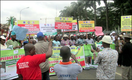 Protest march in Lagos - photo DSM