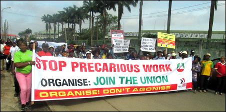 Stop Precarious work demo - photo DSM