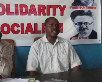 Isiaka Oyeniran - former Chair IPWA workers' union- photo DSM