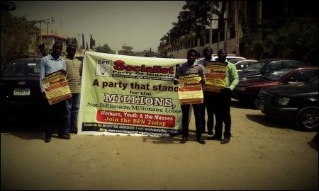 Protesting in Abuja - photo DSM