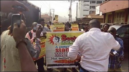 SPN members protesting in Oyo - photo DSM
