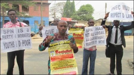 SPN protest in Lagos - photo DSM